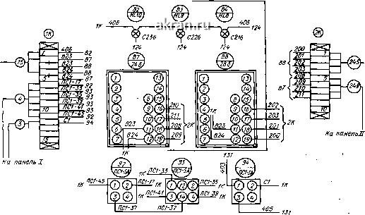 Монтажная схема щита