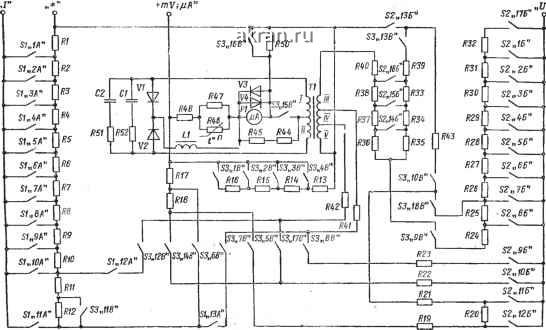 Принципиальная электрическая схема Ц-433.