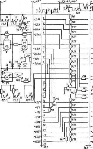 Рис. 61. принципиальная электрическая схема Ц-4360.